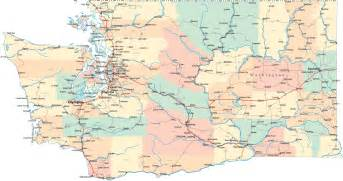 Washington State Highway Map by Washington Road Map Wa Road Map Washington Highway Map