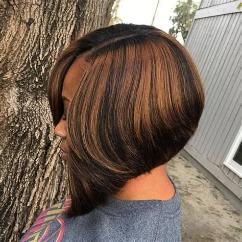 chocolate hair color with highlights for angled bobs 60 showiest bob haircuts for black women bobs black bob
