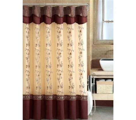 double swag shower curtains with valance double swag shower curtain attached valance with in idea