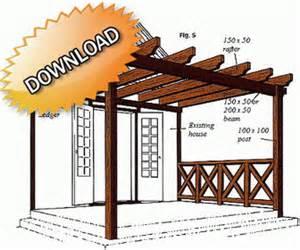 Diy Pergola Plans Free Download by Wood 20130416