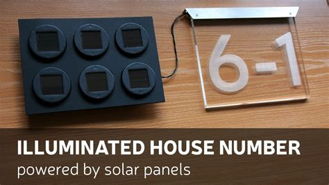 solar powered house numbers address illuminated lighted diy illuminated house number powered by solar panels