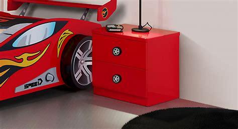Nachttisch Rot by Rot Lackierter Kinder Nachttisch Im Rennwagen Design Tuning