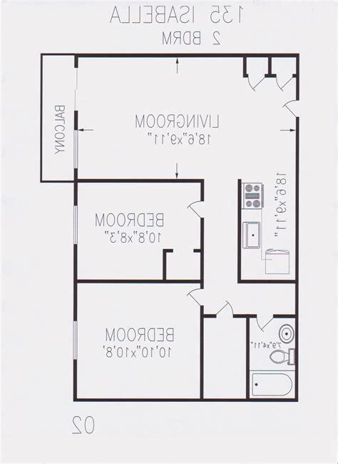 800 sqft 2 bedroom floor plan 800 sq foot house plans