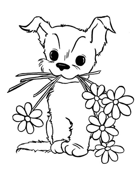 cute puppy coloring pages  kids  printable