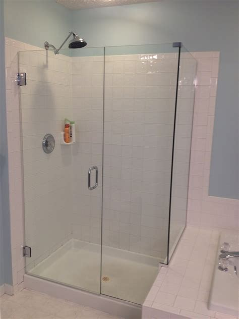 Frameless Shower Doors Installation Cost Combine With Bathroom Tile Installation Cost