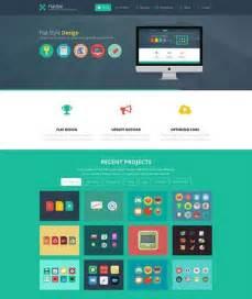 template for a phlet 25 best flat design website templates