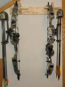 how to make a simple bow rack one project closer