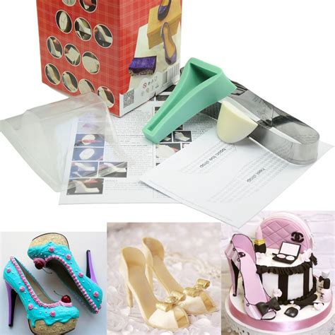 Tools For Decorating Cakes by Silicone Shoe Cake Decorating Mold