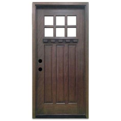36 X 78 Exterior Door Steves Sons 36 In X 80 In Craftsman 6 Lite Stained Mahogany Wood Prehung Front Door M3306 6