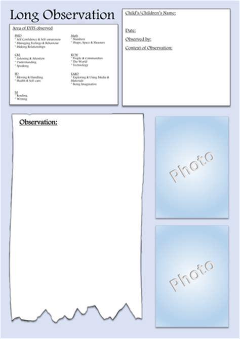 printable version of eyfs eyfs long observation form by helenmchapman uk