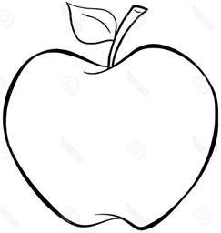 apple fruit drawing fruit coloring pages apple printables