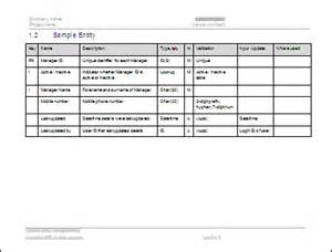 data dictionary template software requirements specification srs free templates