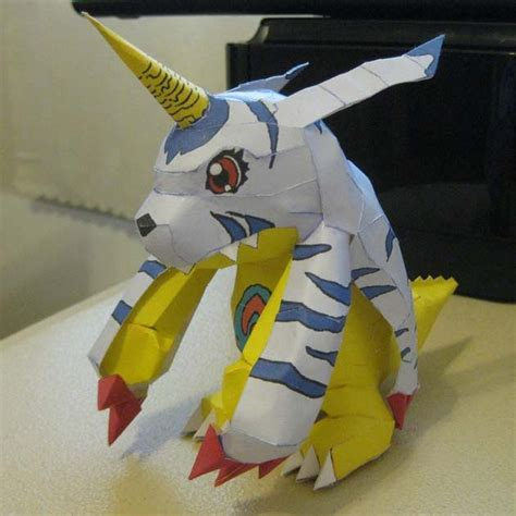 Digimon Papercraft - digimon gabumon papercraft jpg