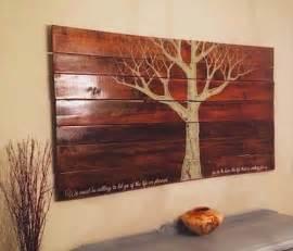 DIY Wooden Pallet Wall Art   Pallets Designs