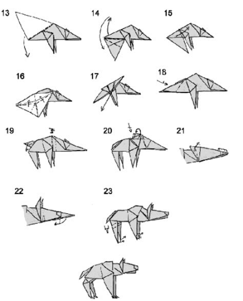 How To Make An Origami Wolf Step By Step - origami hyena 3d origami step by step