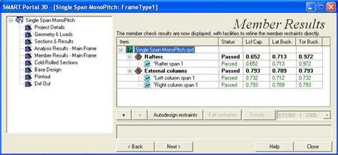 portal frame design to bs 5950 sp3d main frame member bs 5950 check brief results cads uk
