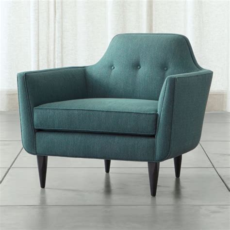 gia teal blue mid century accent chair crate barrel
