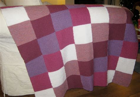 Knitted Patchwork Throw Pattern - wonky witch needlecraft my in stitches knitted