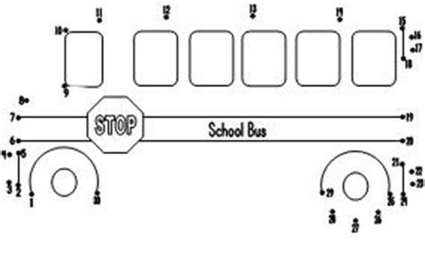 printable school bus dot to dot fun learning printables for kids