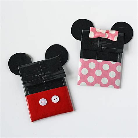 how to make a duct card holder duct mickey minnie gift card holders disney family