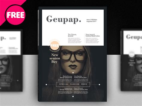 free magazine cover templates downloads free fashion magazine cover template psd 72pxdesigns