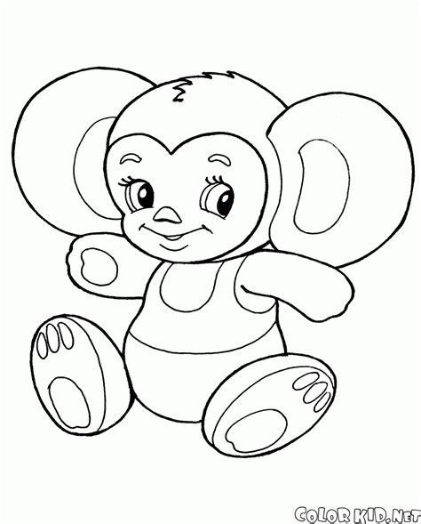 coloring page cheburashka