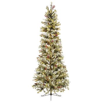 fast shape slim snow pine pre lit christmas tree 7 1 2