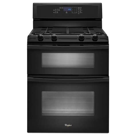 List Oven Gas whirlpool 6 0 cu ft oven gas range with self cleaning oven in black wgg555s0bb the