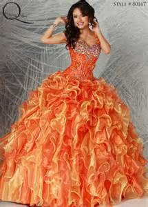 Orange gold quinceanera dress quinceanera dresses from q by davinci