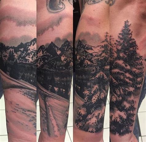snowboarding inspired mountain tattoo by zoey taylor 12