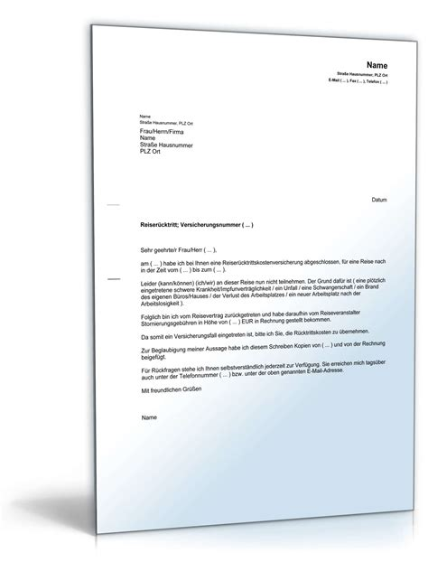 Musterbrief Erstattung Bearbeitungsgebühr Darlehen Inanspruchnahme Reiser 252 Cktrittskostenversicherung