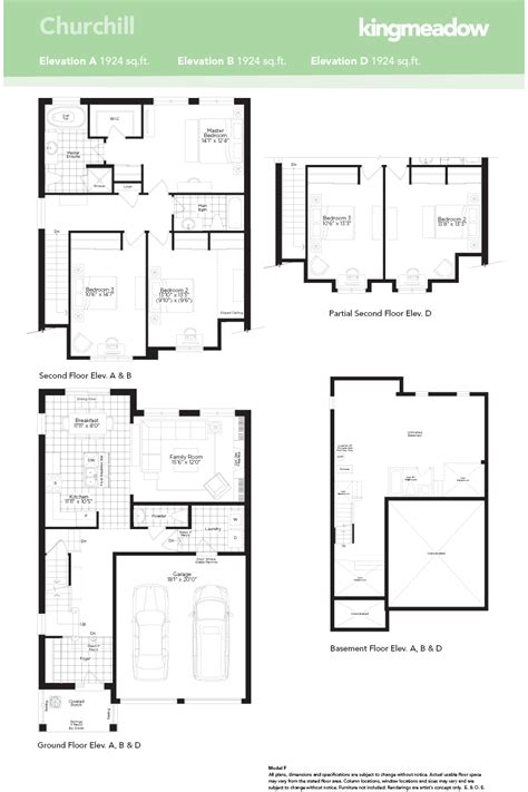 new home floorplans the churchill at kingmeadow in oshawa by the minto group