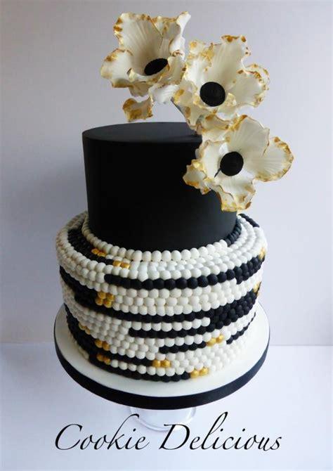 Freya Black Gold Wedding Cake Cake Byokie
