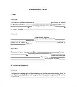work from home contract template home remodeling contract template 7 free word pdf