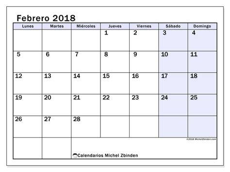 Calendario Enero Febrero Calendario Para Imprimir Febrero 2018 Nereus 2 Espa 241 A