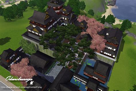 Small Homes Floor Plans mod the sims japanese style castle new azuchi j