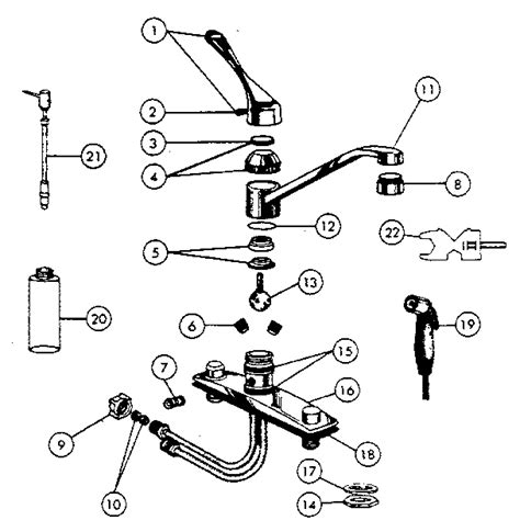 peerless kitchen faucet repair parts peerless kitchen faucet parts diagram go search