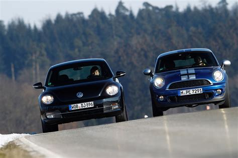 volkswagen mini cooper mini cooper s coupe vs vw beetle sport by sportauto de