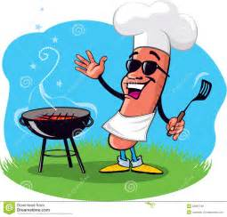 Backyard Bar B Que Cartoon Barbecue Dog Royalty Free Stock Images Image