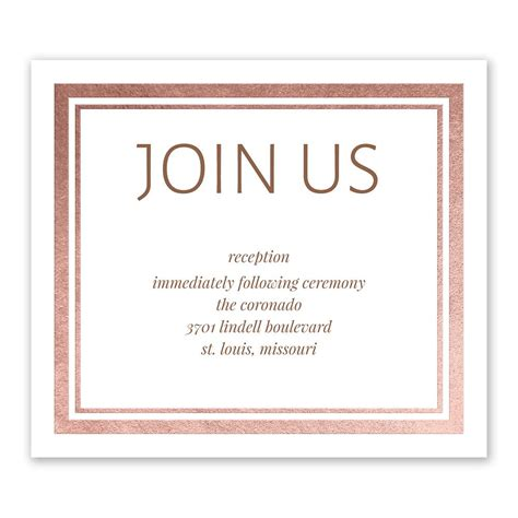 Wedding Invitation Information Card by Modern Shine Foil Information Card Invitations By