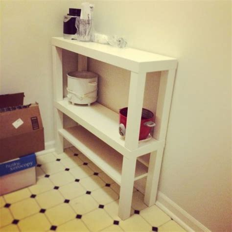 ikea desk hutch hack maybe using 2 stacked lack tv tables on top of dorm desk