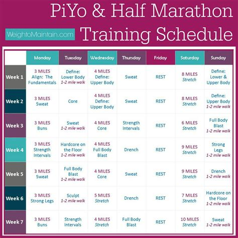 amazon half marathon training the busy girls half marathon piyo half marathon training plan weigh to maintain