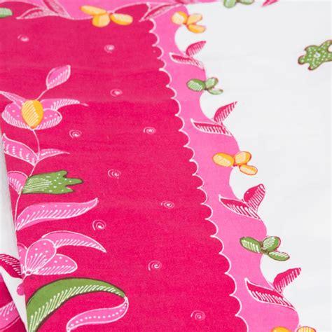 kain batik tulis encim pink