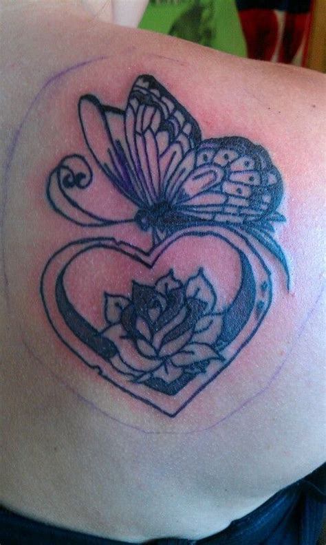 tattoo butterfly with heart butterfly heart tattoo pinterest
