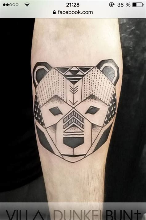 geometric bear tattoo geometric bear tattoo tattoo pinterest geometric