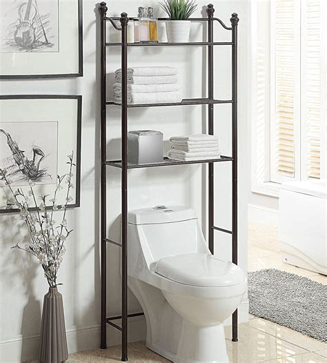 bathroom storage above toilet over toilet bathroom shelves in over the toilet shelving
