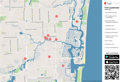 fort map maps update 760328 fort lauderdale tourist map
