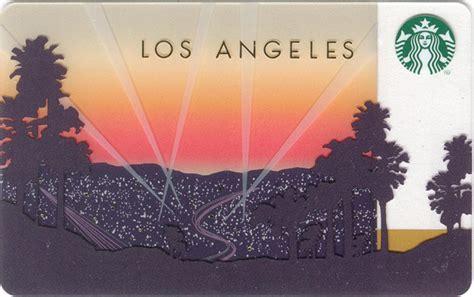 Los Angeles Gift Cards - los angeles starbucks card closer look starbucks gift cards pinterest starbucks