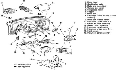 best car repair manuals 1998 chrysler cirrus instrument cluster repair guides interior instrument panel and pad autozone com