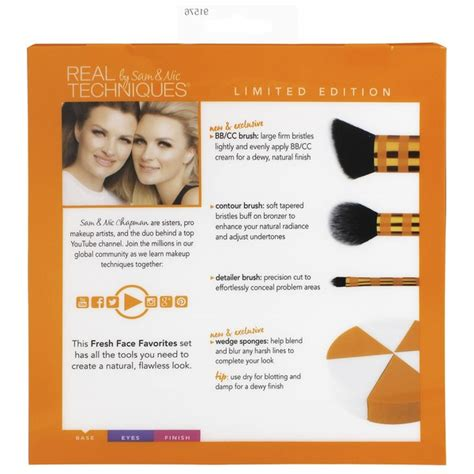 ancl face guide real techniques fresh face favourites brush set